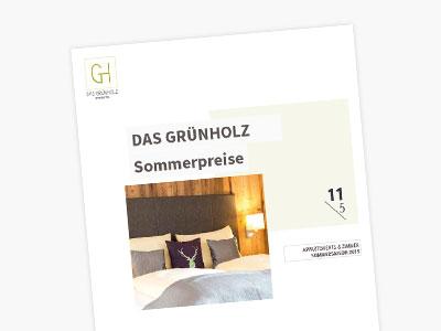 Hotel Grünholz - Sommerpreise