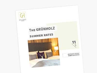 The Grünholz summer rates
